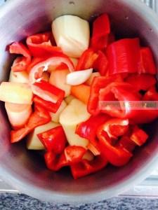 pimientos y verduras